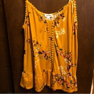 Yellow Floral Tank Top